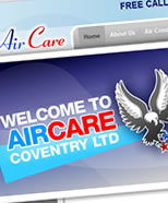 Aircare Coventry website